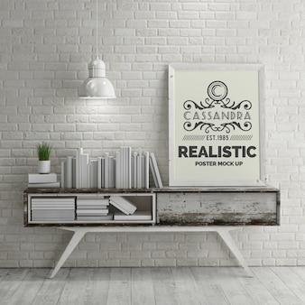 Manifesto realistica mock up