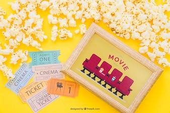 Mockup di film con telaio