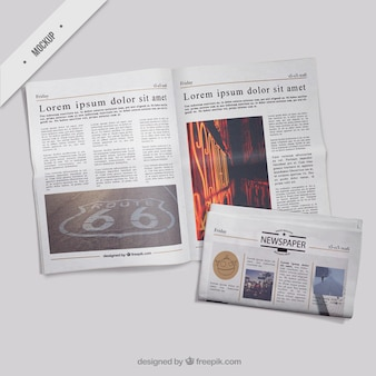 Mockup giornali