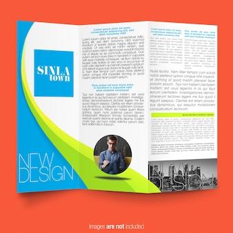 Modello multicolore brochure aziendale