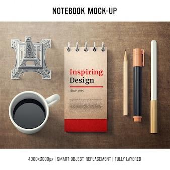 Notebook mock up modello