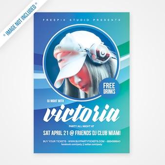 Poster del partito di musica