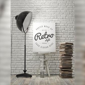 Poster mock up di progettazione