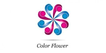 Ruota logo design floreale