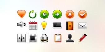 Vettoriale web icone psd e png