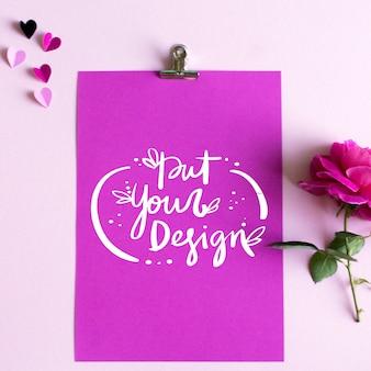 Blatt Papier Template-Design
