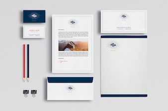 Business-Briefpapier mock up