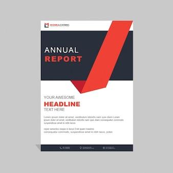 Business-Broschüre Vorlage mit geometrischen Formen