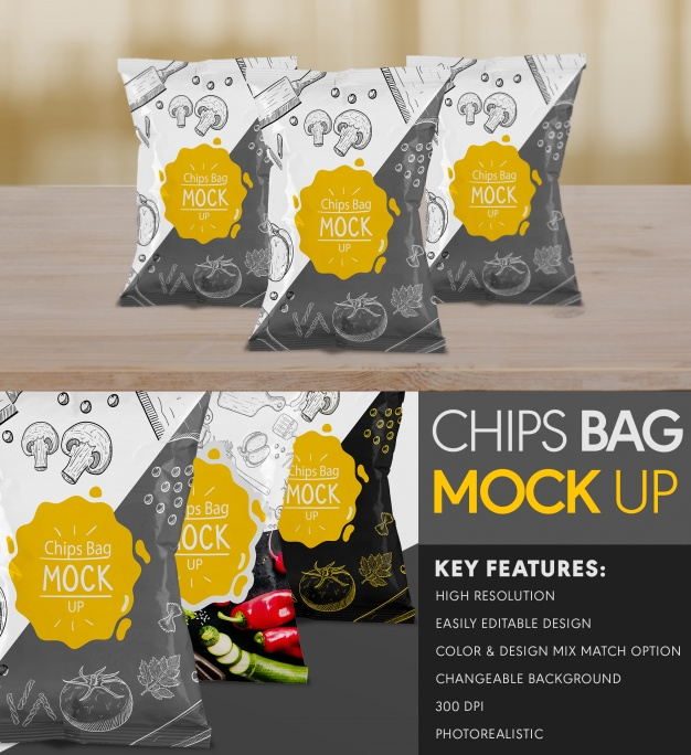 Chips Tasche Mock up