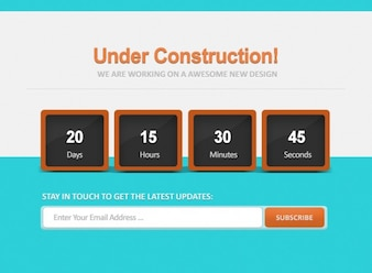 Count down under construction psd