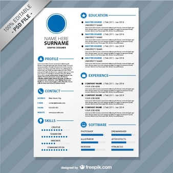 Editierbare cv-Format zum Download