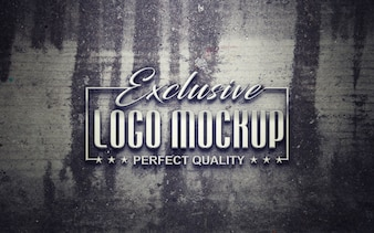 Elegantes Logo Mock up