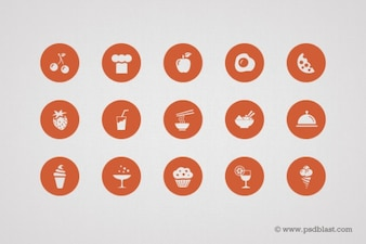 Form Food Icons in psd