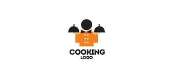 Gourmet-logo vector design zum Kochen Restaurants und Bars