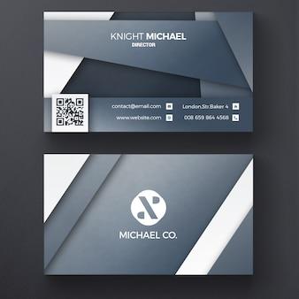 Grau Corporate Visitenkarte