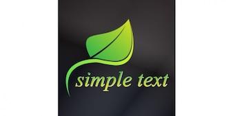 Grün verlassen Logo-Design
