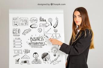 Infografisches Geschäft conept