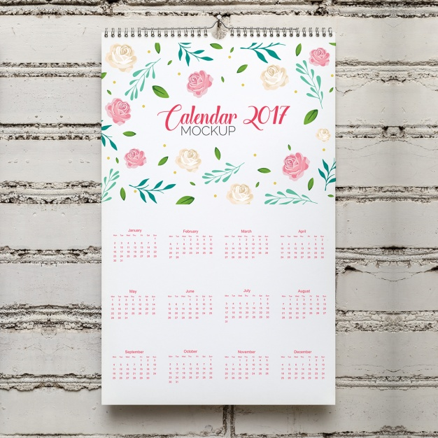 Kalender Mock-up-Design
