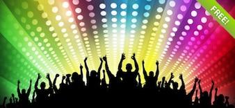 Kostenlose Disco Party Hintergründe