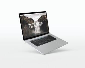 Laptop auf weißem Hintergrund Mock up