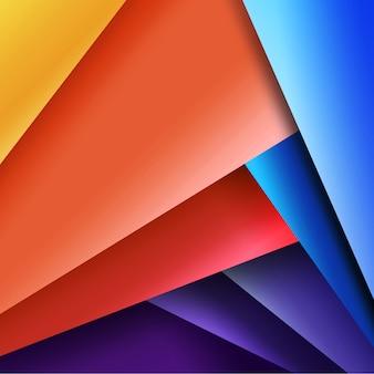 Mehrfarbige geometrische Ausführung