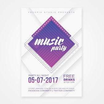 Musikparty Poster