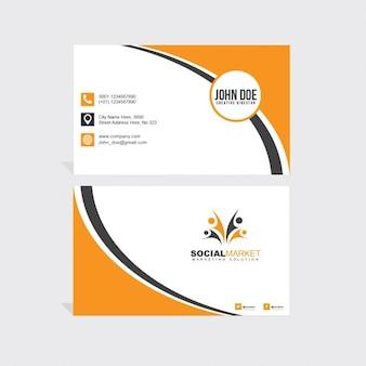 Orange und schwarze Visitenkarte
