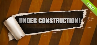 PSD-Vorlage von Under Construction Page