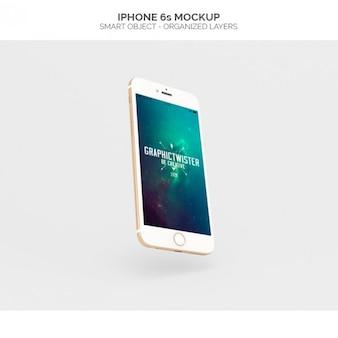 Realistische iphone 6s Mock-up