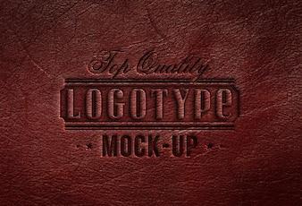 Realistische Logotype mock up