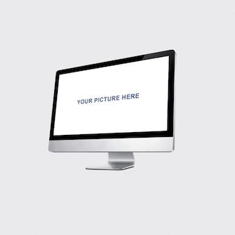 Realistische Monitor-Mockup