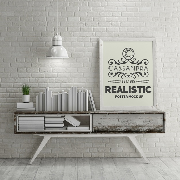 Realistische Plakat Mock-up