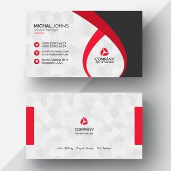 Rote geometrische Visitenkarte