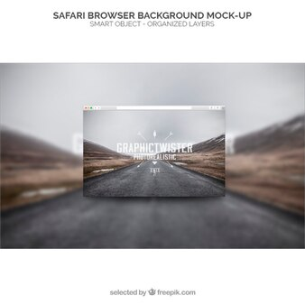 Safari-Browser Hintergrund Mockup