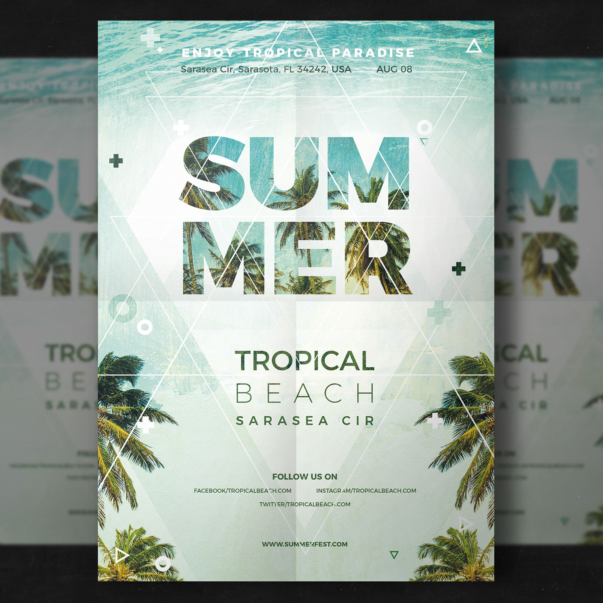 Sommer-Party-Flyer