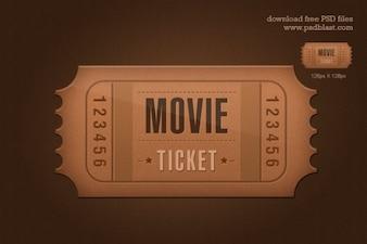 Ticket-Symbol psd