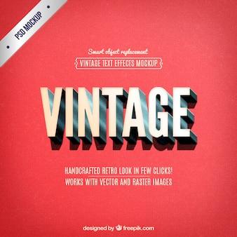 Vintage beschriftung