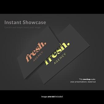 Visitenkarte mit Logo Mock up