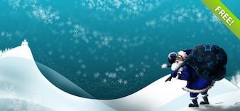 Weihnachtsmann im Winter Wallpapers Set