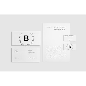 White Business Briefpapier Mock up Frontalansicht