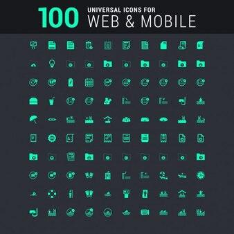 100 Icône universelle Ensemble pour le web et mobiles