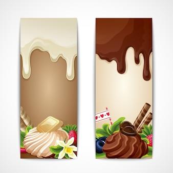 2 bannières avec desserts