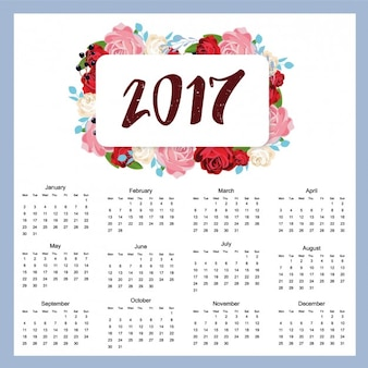 2017 conception de calendrier