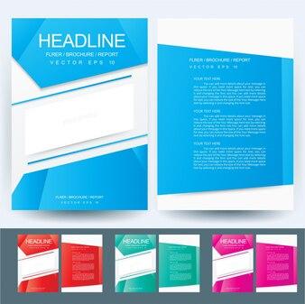 3 Ensemble de couleurs A4 Brochure Modèle de présentation