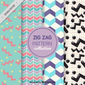 4 zig zag motifs
