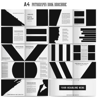 A4 Taille Paysage Photographie Brochure modèle