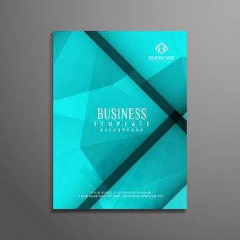 Abstract blue geometric business flyer design