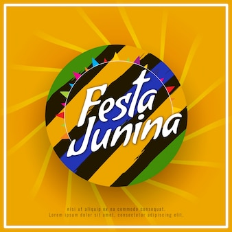 Abstract elegant festa junina background