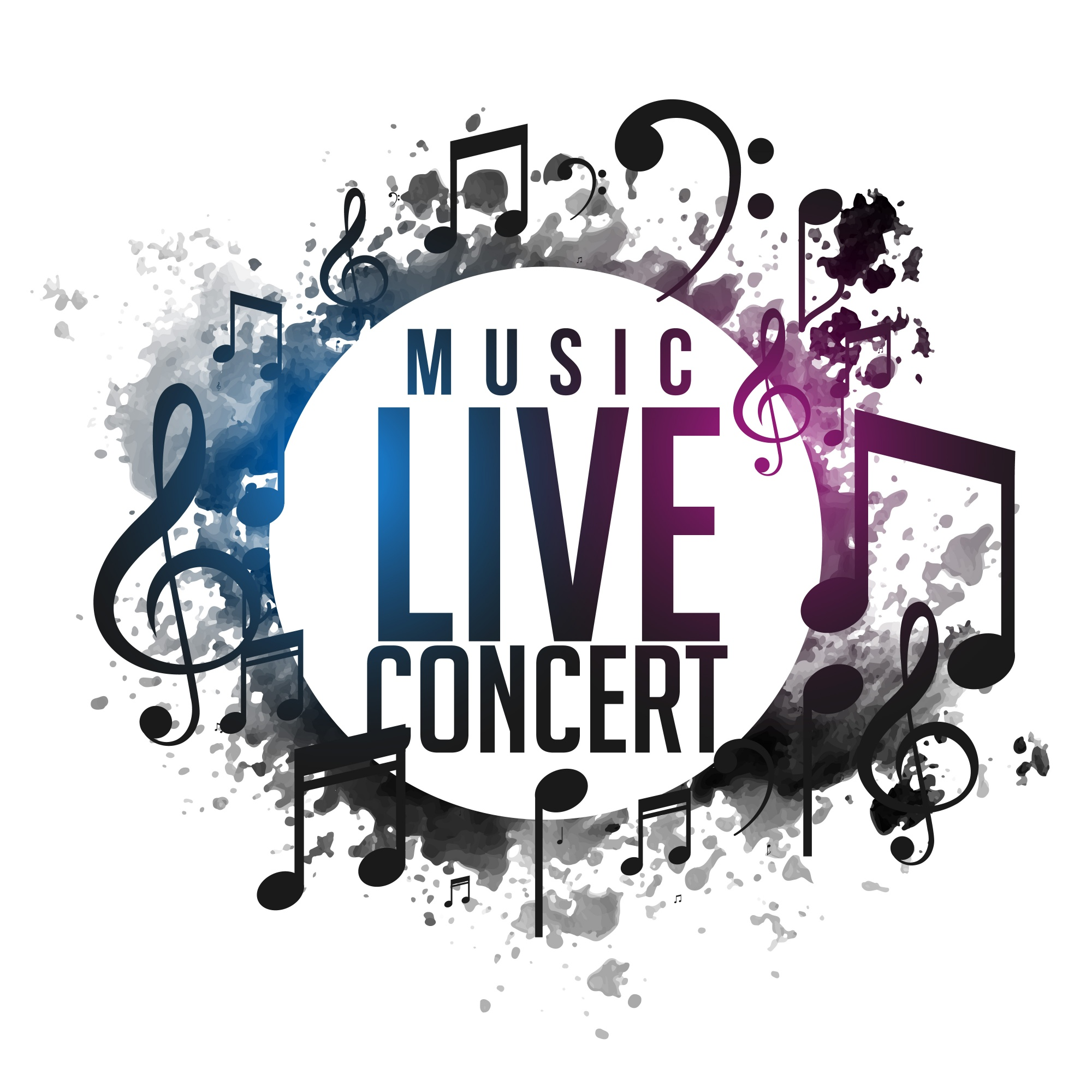 Abstract grunge music live concert poster design