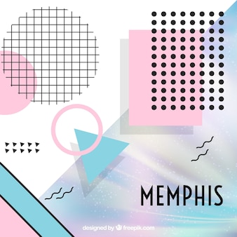 Abstract memphis shapes background